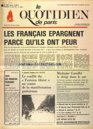 QUOTIDIEN DE PARIS (LE) no:367 13/06/1975