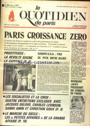 QUOTIDIEN DE PARIS (LE) no:364 10/06/1975