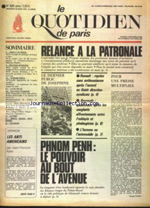 QUOTIDIEN DE PARIS (LE) no:320 16/04/1975