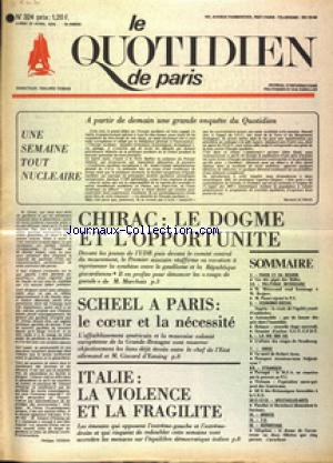 QUOTIDIEN DE PARIS (LE) no:324 21/04/1975