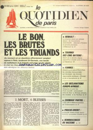 QUOTIDIEN DE PARIS (LE) no:283 01/03/1975