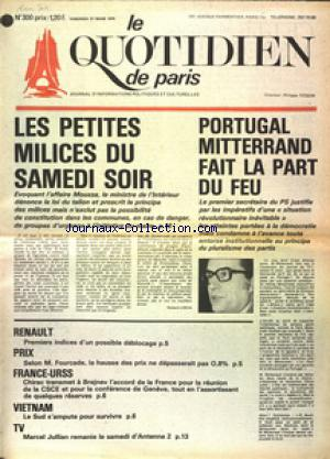 QUOTIDIEN DE PARIS (LE) no:300 21/03/1975