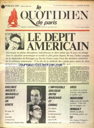 QUOTIDIEN DE PARIS (LE) no:302 24/03/1975