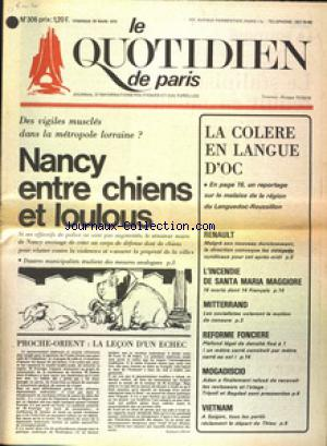 QUOTIDIEN DE PARIS (LE) no:306 28/03/1975
