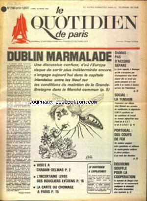 QUOTIDIEN DE PARIS (LE) no:290 10/03/1975