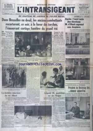 INTRANSIGEANT QUATRIEME EDITION  (L') no: 20/02/1934