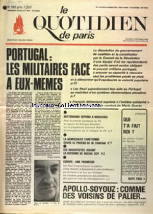 QUOTIDIEN DE PARIS (LE) no:395 18/07/1975