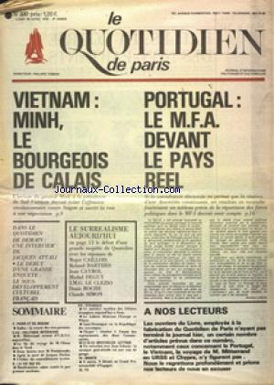 QUOTIDIEN DE PARIS (LE) no:330 28/04/1975
