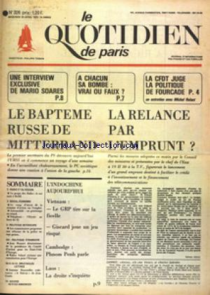 QUOTIDIEN DE PARIS (LE) no:326 23/04/1975