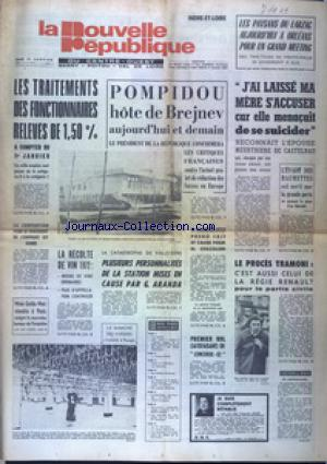 NOUVELLE REPUBLIQUE (LA) no: 11/01/1973