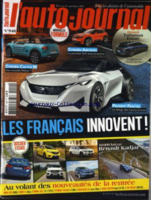 AUTO JOURNAL (L') no:940 03/09/2015