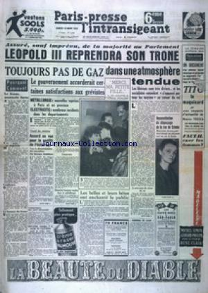 PARIS PRESSE L'INTRANSIGEANT 6 EME EDITION DERNIERE no:1633 18/03/1950