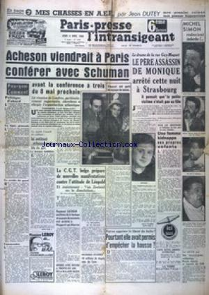 PARIS PRESSE L'INTRANSIGEANT 6 EME EDITION DERNIERE no:1649 06/04/1950
