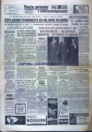 PARIS PRESSE L'INTRANSIGEANT 7 EME EDITION  no: 13/12/1956