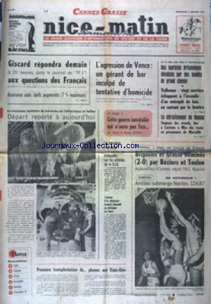 NICE MATIN DIMANCHE ANTIBES CAGNES GRASSE no:9891 05/01/1975