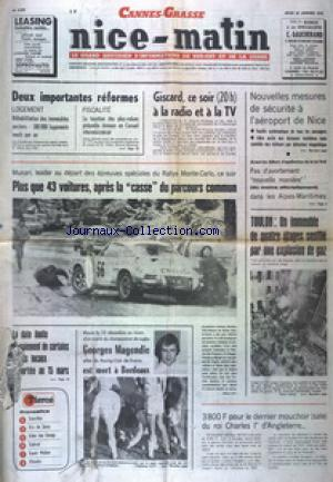 NICE MATIN CANNES GRASSE no:9909 23/01/1975