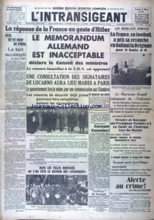 INTRANSIGEANT SIXIEME EDITION SPORTIVE (L') no: 09/03/1936