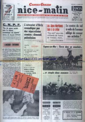 NICE MATIN CANNES GRASSE no:9901 15/01/1975