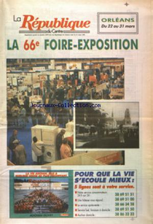 REPUBLIQUE DU CENTRE (LA) no:14974 21/03/1996