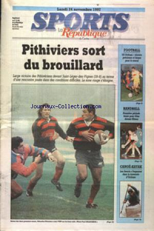 SPORTS LA REPUBLIQUE DU CENTRE no:15482 24/11/1997
