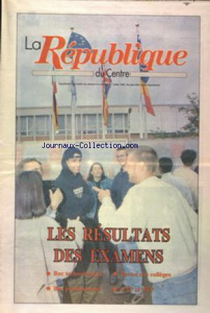 REPUBLIQUE DU CENTRE (LA) no: 06/07/1996