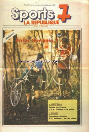 SPORTS 7 LA REPUBLIQUE DU CENTRE SUPPLEMENT no: 09/01/1984