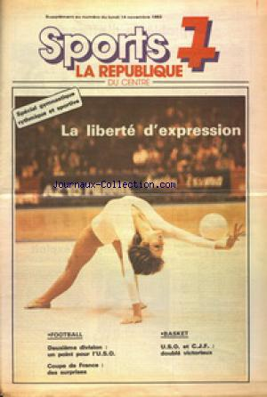 SPORTS 7 LA REPUBLIQUE DU CENTRE SUPPLEMENT no: 14/11/1983