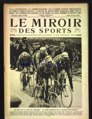 MIROIR DES SPORTS (LE) no:94 20/04/1922