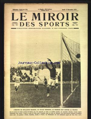 MIROIR DES SPORTS (LE) no:72 17/11/1921