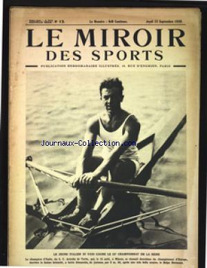 MIROIR DES SPORTS (LE) no:12 23/09/1920