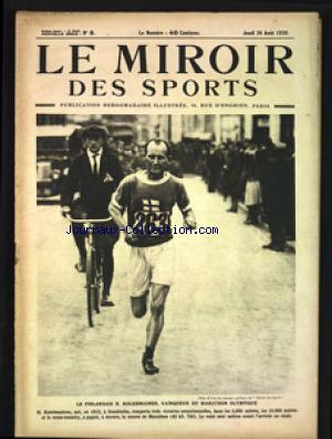 MIROIR DES SPORTS (LE) no:8 26/08/1920