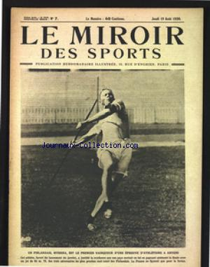 MIROIR DES SPORTS (LE) no:7 19/08/1920