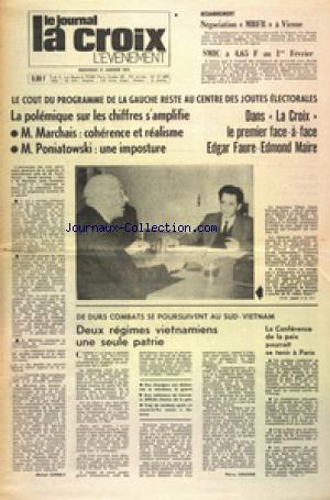 JOURNAL LA CROIX L'EVENEMENT (LE) no:27388 31/01/1973