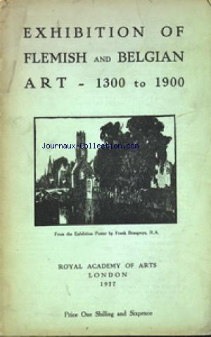 EXHIBITION OF FLEMISH AND BELGIAN ART no: 01/01/1927
