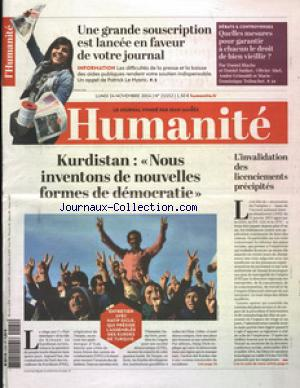 HUMANITE (L') no:21552 24/11/2014