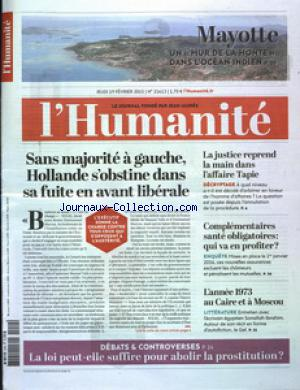 HUMANITE (L') no:21613 19/02/2015