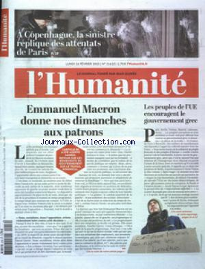 HUMANITE (L') no:21610 16/02/2015