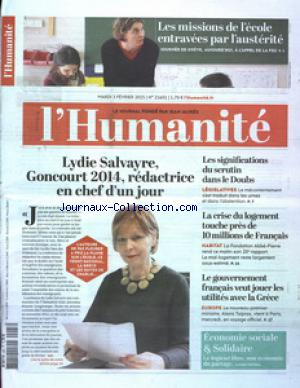 HUMANITE (L') no:21601 03/02/2015
