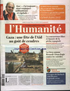 HUMANITE (L') no:21470 29/07/2014