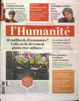 HUMANITE (L') no:21462 17/07/2014