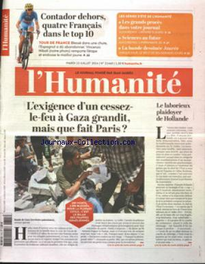 HUMANITE (L') no:21460 15/07/2014