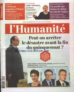 HUMANITE (L') no:21541 06/11/2014