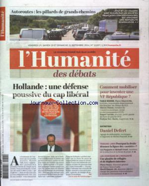 HUMANITE (L') no:21507 19/09/2014