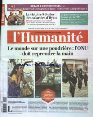 HUMANITE (L') no:21510 24/09/2014