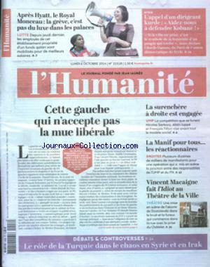 HUMANITE (L') no:21518 06/10/2014