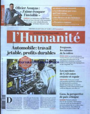 HUMANITE (L') no:21485 20/08/2014