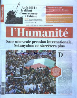 HUMANITE (L') no:21474 04/08/2014