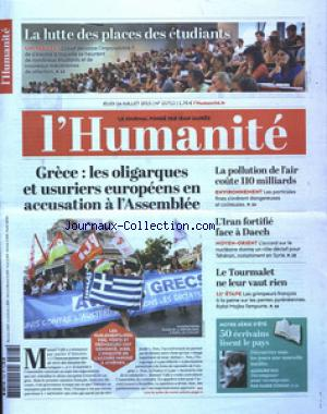 HUMANITE (L') no:21712 16/07/2015