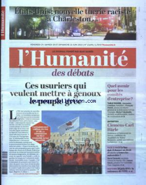 HUMANITE (L') no:21694 19/06/2015