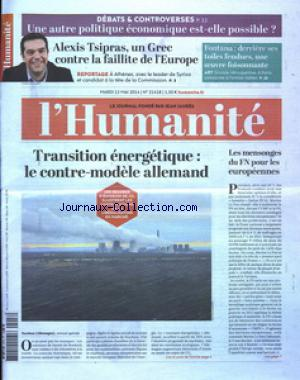 HUMANITE (L') no:21418 13/05/2014